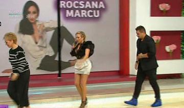 """Bursucu a verificat in direct daca Rocsana Marcu s-a ingrasat! A pipait-o peste tot! """"Daca vrei, controlez si fesierii""""- Blondina a vorbit la Teo Show despre noua ei relatie!"""