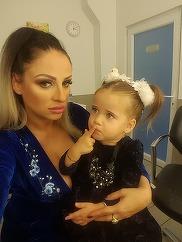 Fetita Sanzianei Buruiana ii calca pe urme mamei! Micuta Izabela e model la nici 2 ani! A facut o super sedinta foto! VIDEO EXCLUSIV
