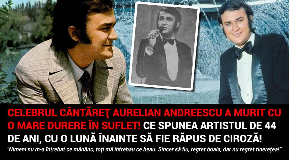 Celebrul cantaret Aurelian...