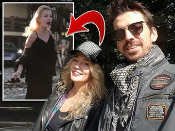 """Blonda lui Tuncay"", criza de nervi cu iubitul in plina strada! Sandra a fost filmata in timp ce a facut tandari un pahar cu sampanie! VIDEO"