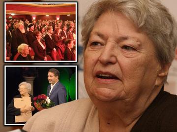 Draga Olteanu Matei a urcat din nou pe scena! La 84 de ani, marea actrita, premiata la Piatra Neamt FOTO