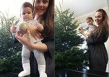 Primul brad de Craciun pentru micuta Petra, fetita lui Madalin Ionescu si a Cristinei Siscanu