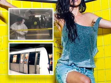 Coincidenta incredibila! Ce romanca, supervedeta internationala, a mers cu metroul chiar in ziua crimei de la Dristor. Nu te-ai fi gandit in veci ca o s-o vezi intr-un mijloc de transport in comun FOTO si VIDEO!