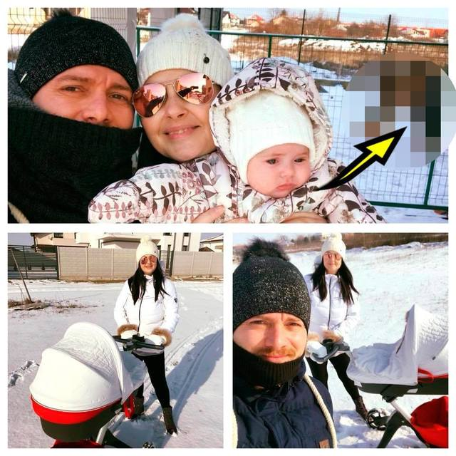 Gabriela Cristea a iesit la zapada cu sotul si fetita! Stateau concentrati sa-si faca selfie, dar uite ce se intampla in spatele lor