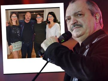 De ziua lui, Victor Socaciu si-a strans in jur toti copiii! Uite-l pe solist impreuna cu cele doua fete si cu fiul Marinei Almasan! FOTO
