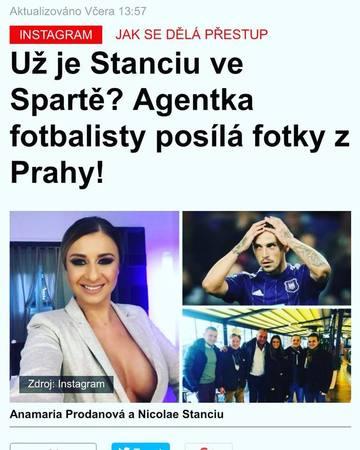 Anamaria Prodan, cum a aparut in ziarele din Cehia! Impresara a fost prezentata ca o diva, insa si in costum de baie