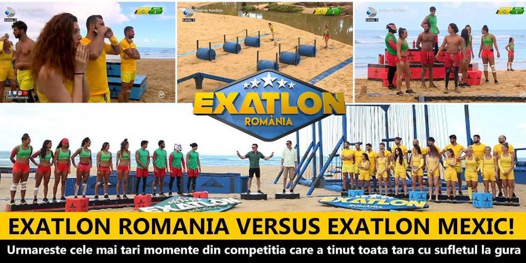 Exatlon Romania versus Exatlon Mexic! Urmareste cele mai tari momente din competitia care a tinut toata tara cu sufletul la gura