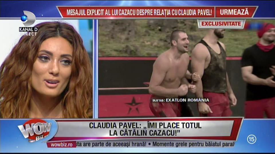 """Claudia Pavel, adevărul despre relaţia cu Cătălin Cazacu: """"Vom vedea dacă povestea va continua. Îmi place totul la Cătălin Cazacu!"""""""