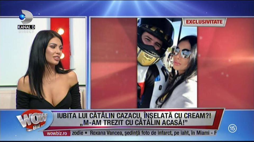 """Iubita lui Cătălin Cazacu, înşelată cu Claudia Pavel?! Ana Roman a spus totul în direct, la WOWbiz: """"Am fost însărcinată!"""""""
