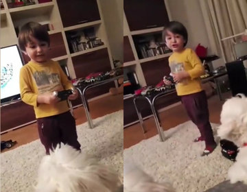 Cristi Mitrea si-a filmat baietelul asa si i-a adresat o intrebare neasteptata. Raspunsul lui David e tare de tot