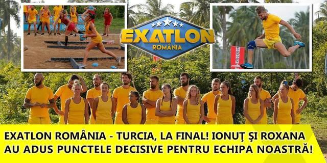 Exatlon 24 februarie! Confruntarea România - Turcia, la final! Ionuţ şi Roxana au adus punctele decisive pentru echipa noastră!