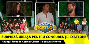 EXATLON 12 martie. Surpriza uriasa pentru concurentii Exatlon! Anuntul facut de Cosmin Cernat i-a bucurat enorm