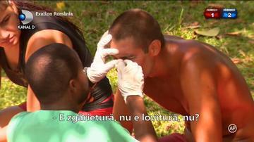 Exatlon 17 martie. Catalin Cazacu a ajuns cu fata plina de sange! Ce i s-a intamplat in timpul probei