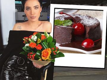 """Ultima pofta a gravidutei Adelina Pestritu. S-a delectat cu un """"vulcan de ciocolata"""" delicios. Iata reteta desertului apetisant"""
