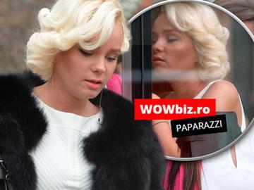 Maria Constantin a iesit la cafenea in cea mai scurta rochie, cu tocuri de 12 centimetri. Marilyn Monroe de Romania e cea mai sexy divortata VIDEO EXCLUSIV