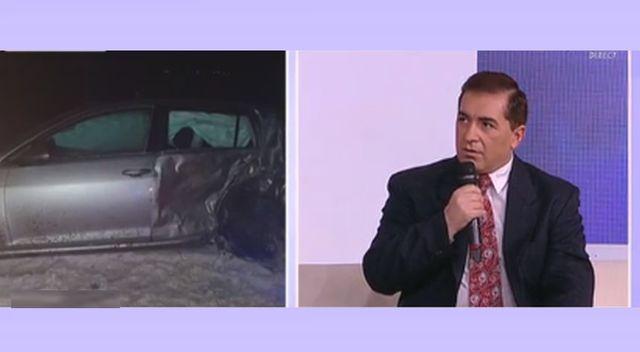 """Daniel Ionascu, prima aparitie publica dupa ce a fost externat: """"Stiu doar ca am fost trasnit din spate de un TIR"""""""