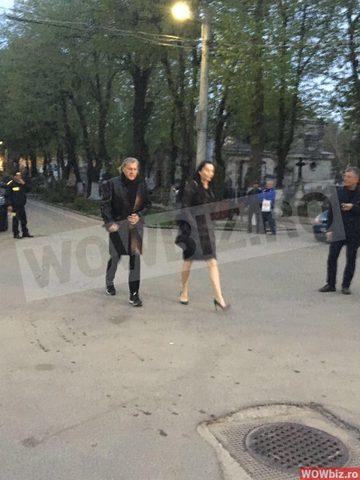 Brigitte si Ilie Nastase au aparut impreuna la priveghiul Ionelei Prodan