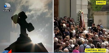 Semn divin la inmormantarea Ionelei Prodan! Ce s-a aratat pe cer, chiar acum, in timpul slujbei de inmormantare