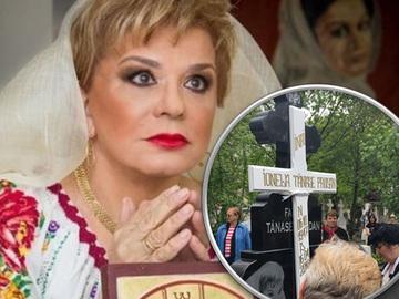 """Scandal la mormantul regretatei Ionela Prodan. Vezi ce s-a intamplat la locul de veci al artistei imediat dupa inmormantare. """"Astia sunt plini de bani"""" FOTO!"""