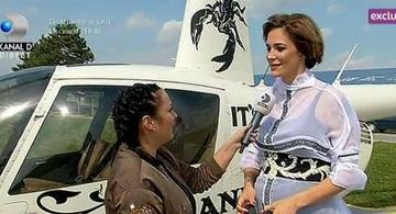 Roxana Ciuhulescu piloteaza elicoptere in a saptea luna de sarcina