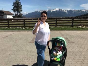 Gabriela Cristea ar vrea o zi de concediu de odihna de la statutul de mama!