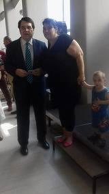 Ea este vedeta care l-a facut sa zambeasca pe Marius Teicu! Ioana Calugareanu s-a intalnit cu compozitorul la un eveniment FOTO