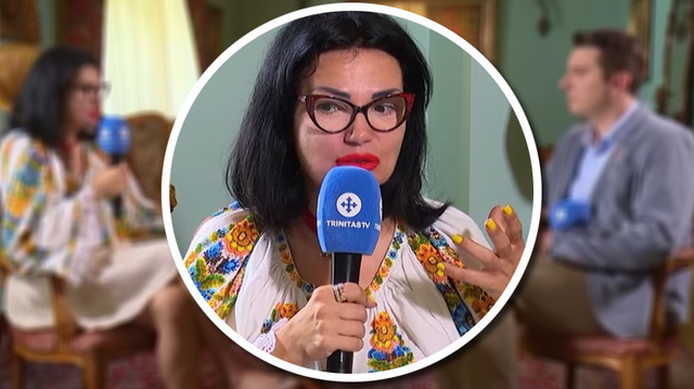 Ozana Barabancea, aparitie socanta la Trinitas TV! Vedeta a vorbit la postul Patriarhiei rujata puternic si cu unghii lungi si galbene
