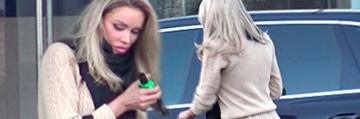 Aparitie de infarct a Biancai Dragusanu pe strada! Vedeta a renuntat la extensii, dar a fost imbracata super sexy VIDEO EXCLUSIV