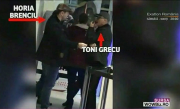 Horia Brenciu si Toni Grecu, gentlemani cu sotiile la film
