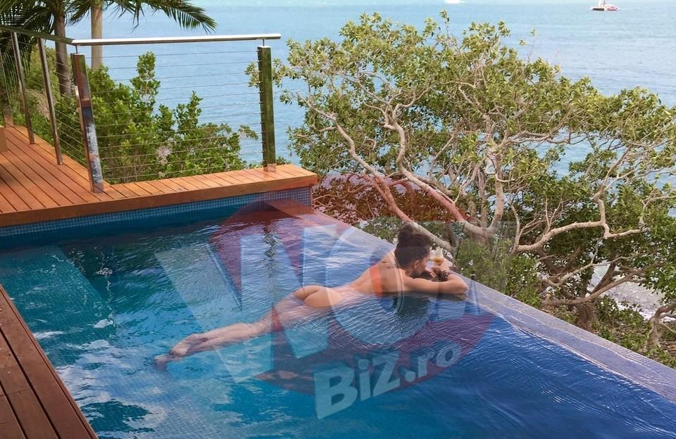 Mihaela Radulescu, goala in piscina! Felix Baumgartner i-a facut fotografia! - Este sexy rau