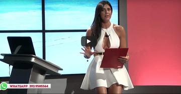"""O prezentatoare TV prinsa in """"flagrant""""- Purta o rochita scurta si foarte decoltata si cand vorbea despre Cristiano Ronaldo... Ups! Ce s-a vazut in direct!"""
