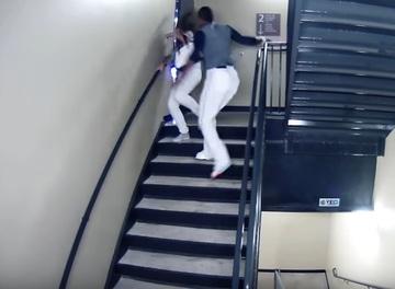 Un sportiv a fost filmat in timp ce isi batea amanta cu bestialitate! Imaginile sunt de o violenta de nedescris