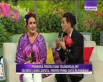 """Premiera pentru fanii telenovelelor! Laura Zapata, regina rolurilor negative din telenovelele mexicane a ajuns in platoul """"Teo Show""""! Iata ce surprize i-au pregatit Teo si Bursucu si ce detalii inedite a dezvaluit despre viata ei tumultoasa!"""