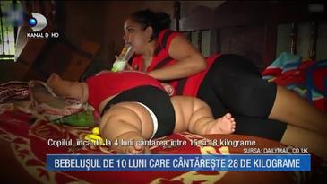 Cazul socant al bebelusului care la doar 10 luni cantareste 28 de kilograme! Cum arata copilul, medicii nu stiu ce sa ii faca