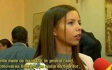 Ea este cel mai tanar deputat din Parlamentul Romaniei. Are numai 24 de ani si planuri mari pentru tara