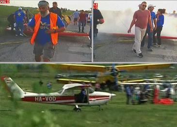 Imagini de infarct dupa ce un delta plan s-a prabusit la Braila! Oamenii prezenti la mitingul aviatic au trait clipe cumplite!