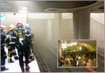 Incendiu la statia de metrou Piata Victoriei din Bucuresti! Circulatia metroului a fost reluata
