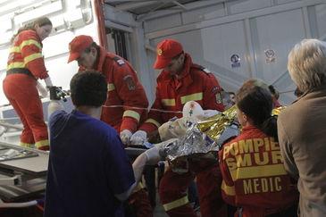 Militarul ranit in accidentul de la cabana Cheia, transferat la un spital din Bruxelles