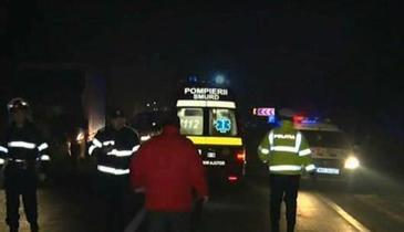Accident teribil in judetul Arges, intre Pitesti si Slatina. O tanara a murit si noua persoane au fost ranite