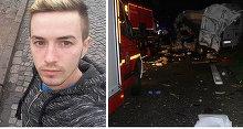 Sofer de 22 de ani din Sebes, mort intr-un cumplit accident. Firma l-ar fi obligat sa faca 2000 de kilometri in 20 de ore