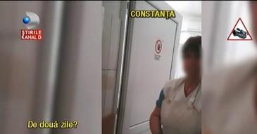 Individul care a facut scandal in strada, de fata cu politia, lucreaza la negru la morga spitalului judetean Constanta