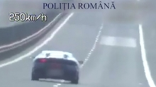 Sofer prins conducand cu 254 de kilometri la ora, pe Autostrada Sibiu-Deva