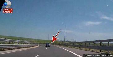 Pericol mortal pe autostrada Soarelui! Un sofer cu numere de Bulgaria a condus kilometri intregi pe contrasens.