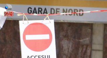 Haos la metroul din zona Garii de Nord. Toate caile de acces sunt blocate.