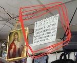 Mesaj halucinant aparut intr-un magazin din Cluj. Un patron a postat un blestem pentru clientii care au apucaturi cleptomane