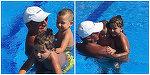 Fotografii inedite cu Traian Basescu. Fostul presedinte, la piscina cu nepotii