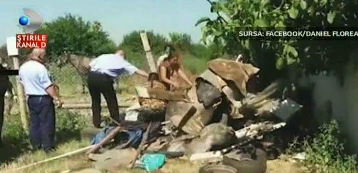 Imagini halucinante la marginea capitalei. Politistii locali au fost atacati cu pietre, lemne si  arme albe de mai multi carutasi.