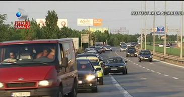 S-a terminat minivacanta si a inceput aglomeratie pe Autostrada Soarelui si pe DN1