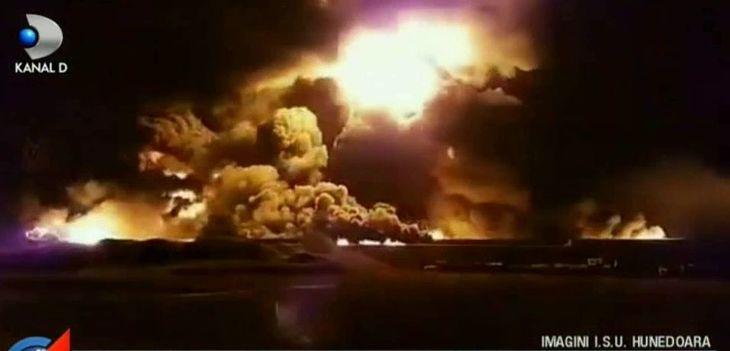 Raul Mures, poluat in urma incendiului care a distrus fabrica de uleiuri esentiale din Orastie