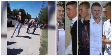 Cea mai apriga sustinatoare a celor 7 violatori din Vaslui, filmata in timp ce loveste cu pumnii si picioarele o eleva de liceu pana la lesin